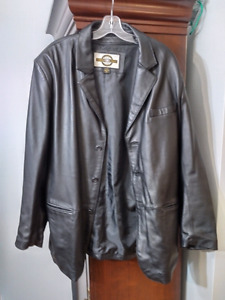 North End black leather jacket