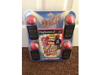 Brand new and sealed buzz controllers and game for PS2