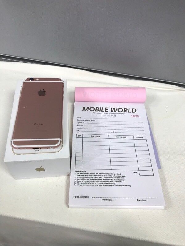 IPhone 6S 32GB & 64GB Rose Gold with 11 Months Apple warranty