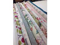 Curtain fabrics (ends of 10 rolls)