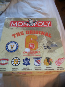 HOCKEY'S  ORIGINAL 6 MONOPOLY GAME