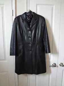 Women's leather coat, made in Italy