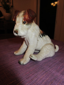 Vintage porcelain Wire Haired Fox Terrier - Adorable