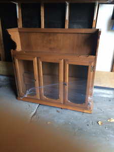 Solid wood hutch - top section