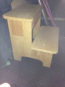 Pine step stool for toddler