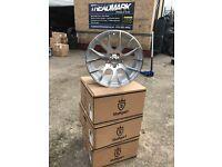 "18"" alloy wheels alloys rims tyre tyres 5x112 staggered seat skoda Audi Vw Volkswagen Mercedes"