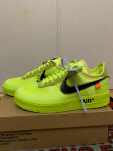 Off-White Nike Air Force 1s Volt