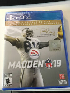 MADDEN 19, PS4 Edition limitée (Hall of Fame). NEUF!