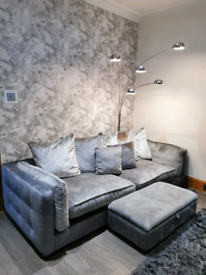 4 Seater sofa and storage footstool