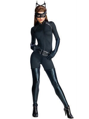 Halloween Catwoman Costume Dark Knight Rises (Deluxe Ladies Catwoman Batman Dark Knight Rises Halloween Fancy Dress)