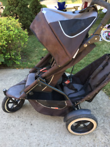 Phil and Teds Double jogging stroller - foldable for a car