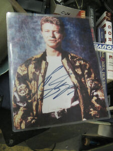 David Bowie Autographed 8x10 Photo with COA