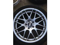 "Bmw CSL 19"" alloy wheels x3 only"