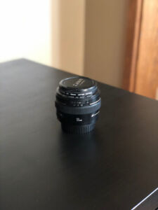 Canon EF 50mm f 1.4 USM Lens /w UV Filter