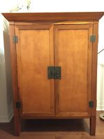 Solid wood armoire in excellent condition for SALE