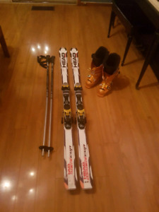 OBO Complete Head ski set with boots and bindings