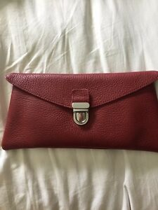 Roots Leather Clutch Wallet