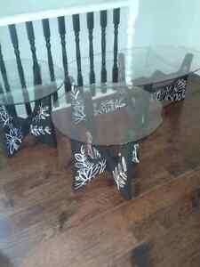Hand painted coffee table set