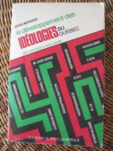 POLITIQUE / SOCIOLOGIE : Développement IDEOLOGIE Québec