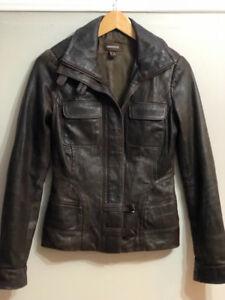 Women's DANIER Brown Leather Jacket