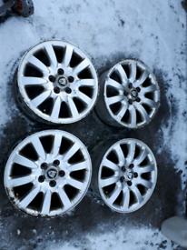"Set of 4 Jaguar Alloys 16"" Genuine X Type S Type Ford Focus, Mondeo"