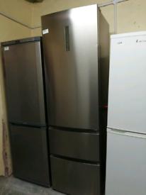 John Lewis silver fridge freezer at Recyk Appliances