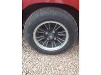 MGB GT wheels