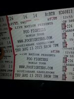 Foo Fighters Calgary August 13th Concert Tickets