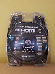 Monster Black Platinum 10.6m (35 ft.) HDMI cable