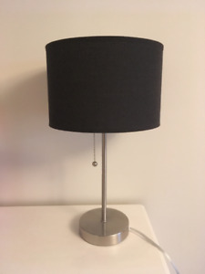 Bedside Lamp, brown lampshade, very pleasant light