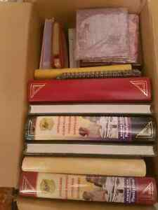 Box full of new photo albums