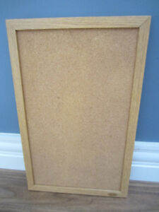 "SMALL ""ROSEART"" BULLETIN CORK BOARD - IN GREAT CONDITION!"