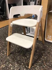 Stokke Steps Natural With White Seat (Floor model) Regular:$327