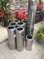 Wood stove insulated pipe