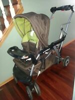 Stroller - Double - Baby Trend brand - SIT-N-STAND XL model