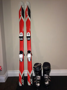 Tecno Pro XR Team 140cm Skis-Nordica One 45 Boots 7.5 - like New