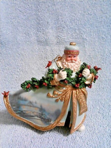 Thomas Kinkade Old World Santa - Bringing home the tree