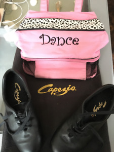 Tap shoes and Dance Bag