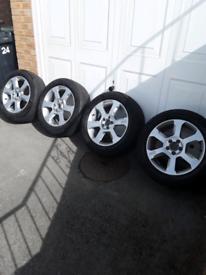 "Volvo XC 17"" alloys with winter tyres"