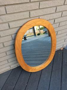 Oval oak mirror Windsor Region Ontario image 1