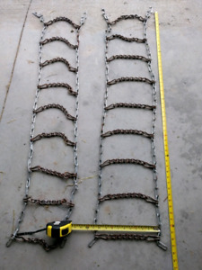 Tire chains for snow blower/lawn tractor