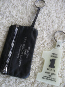 TWO VINTAGE KEY RINGS...KEDDY's MOTOR INNS