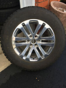 "18"" GM ALLOY RIMS AND BLIZZAK TIRES"
