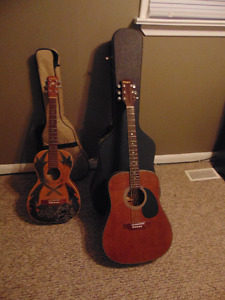 2 Guitars with cases *Pickup Only*