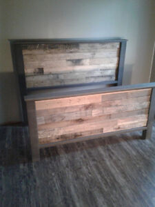 Pallet bed, pallet headboard. Check out my pics.