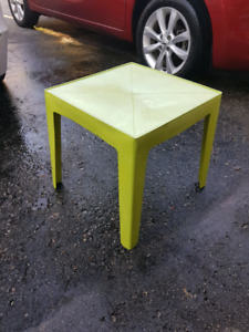 Green Plastic Outdoor Table