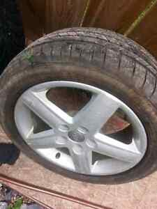 17 inch Audi rims and tires. 225 50 17R Tires