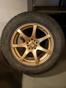 Gold RTX  RIMS with ipike tires 235/65/17 5×114.3