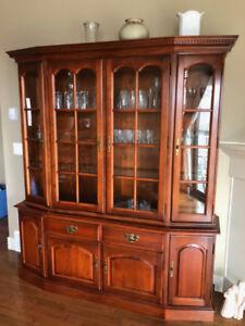 Roxton Maple China Cabinet