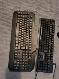 Gaming keyboards and mice